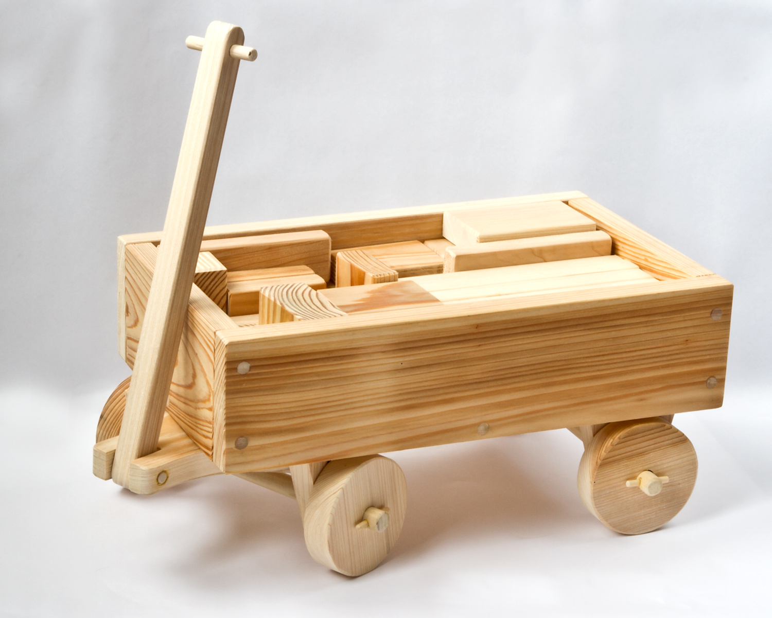 Handmade Wooden Toy Wagon with Blocks | Mike Roberts ...